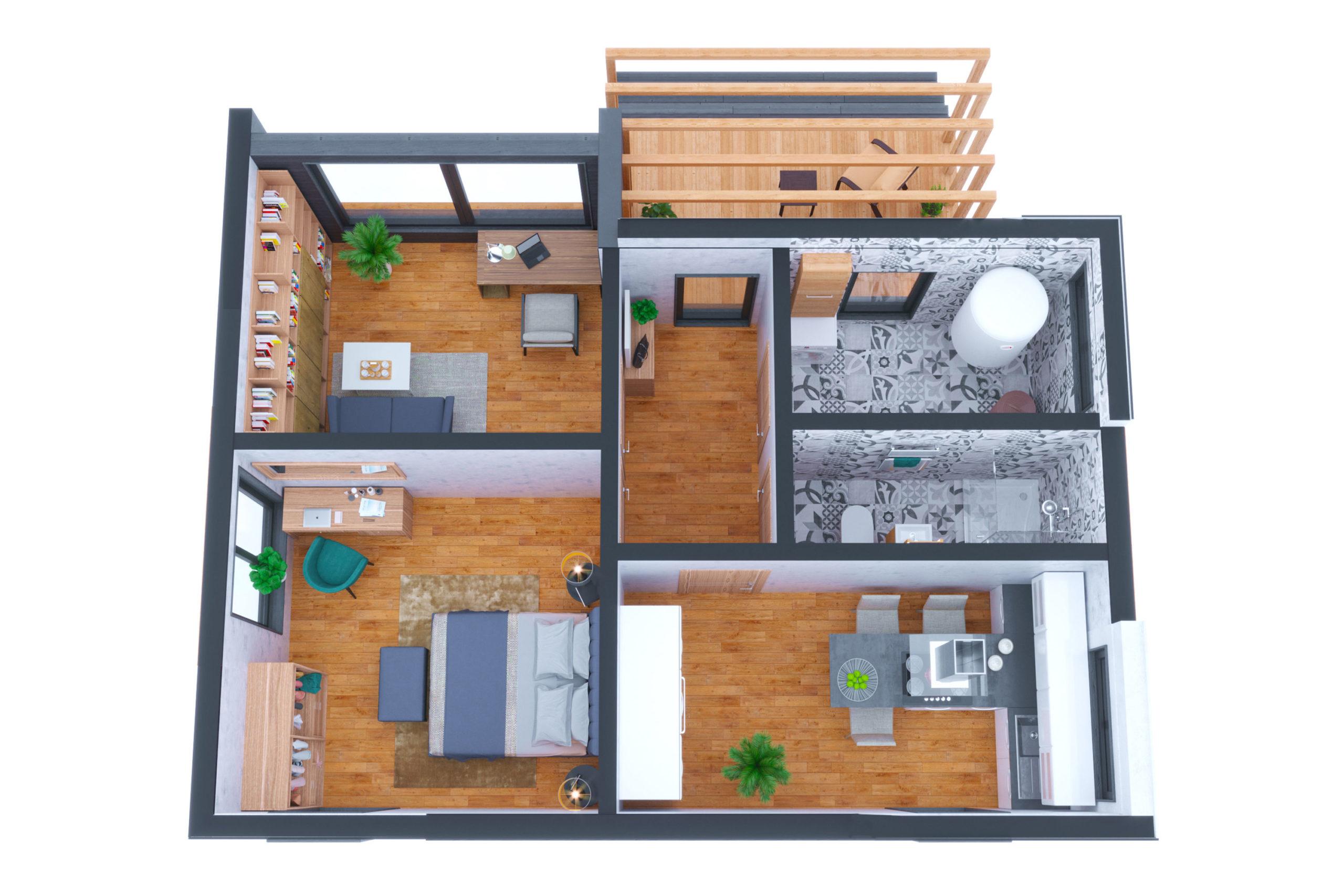 Планировка дома Гэрднер (Gairdner) – фото 1