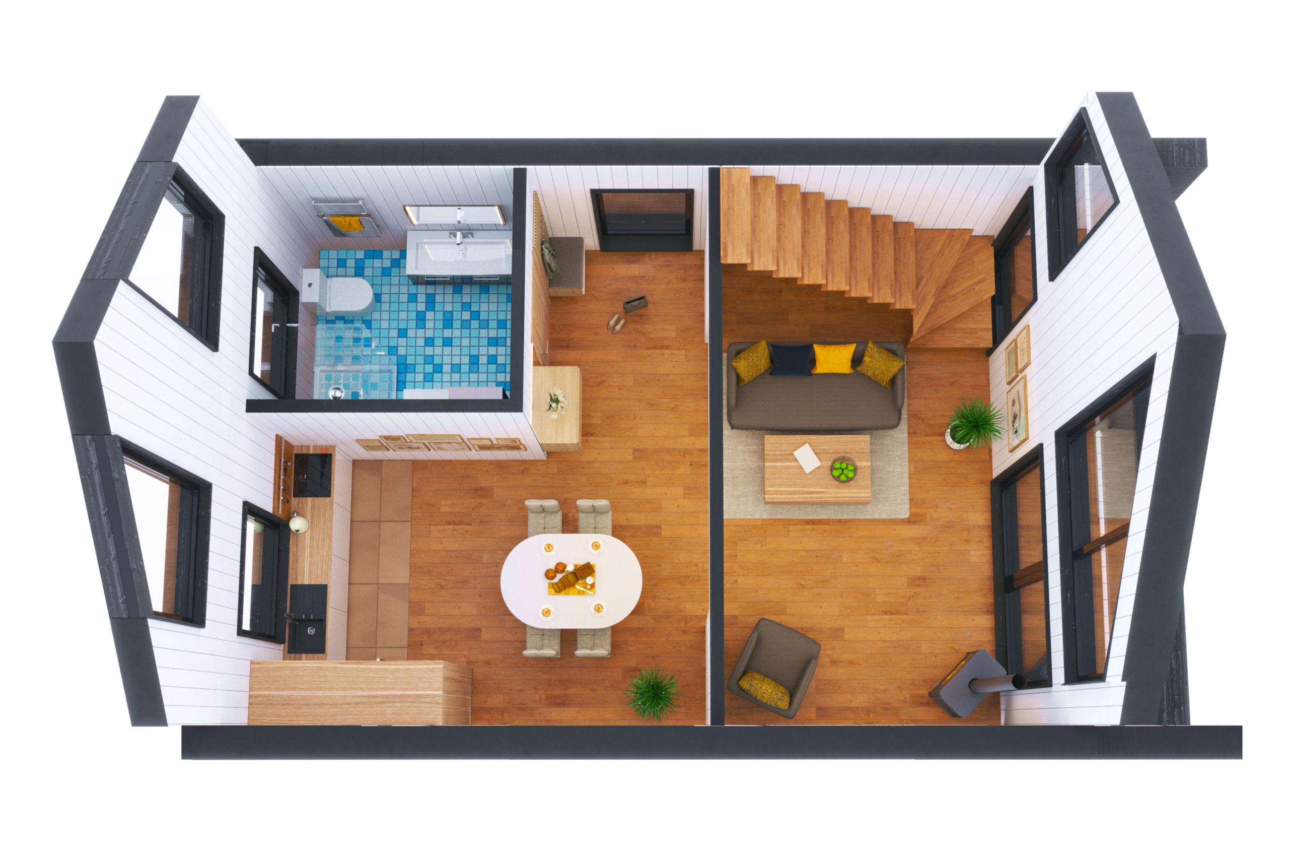Планировка дома Бертран (Bertrand) – фото 1