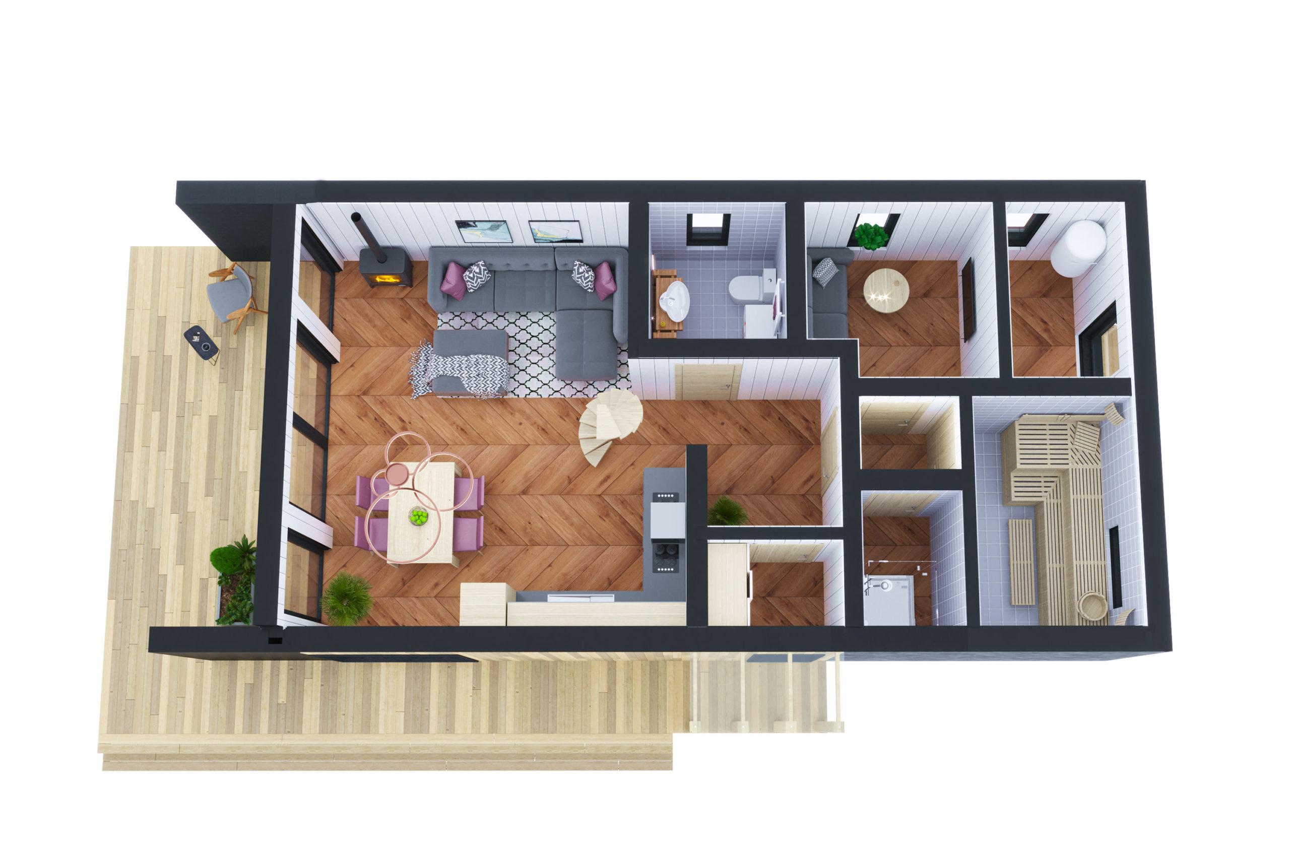 Планировка дома Рица (Ritsa) – фото 1