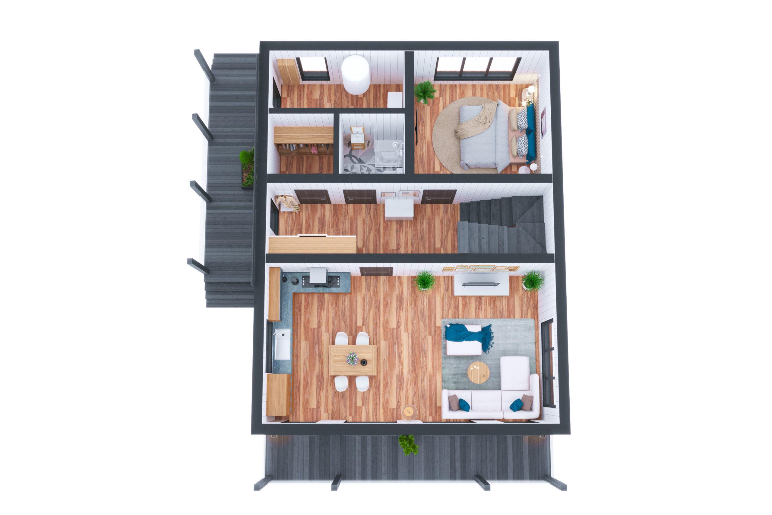 Планировка дома Леман (Leman) – фото 1