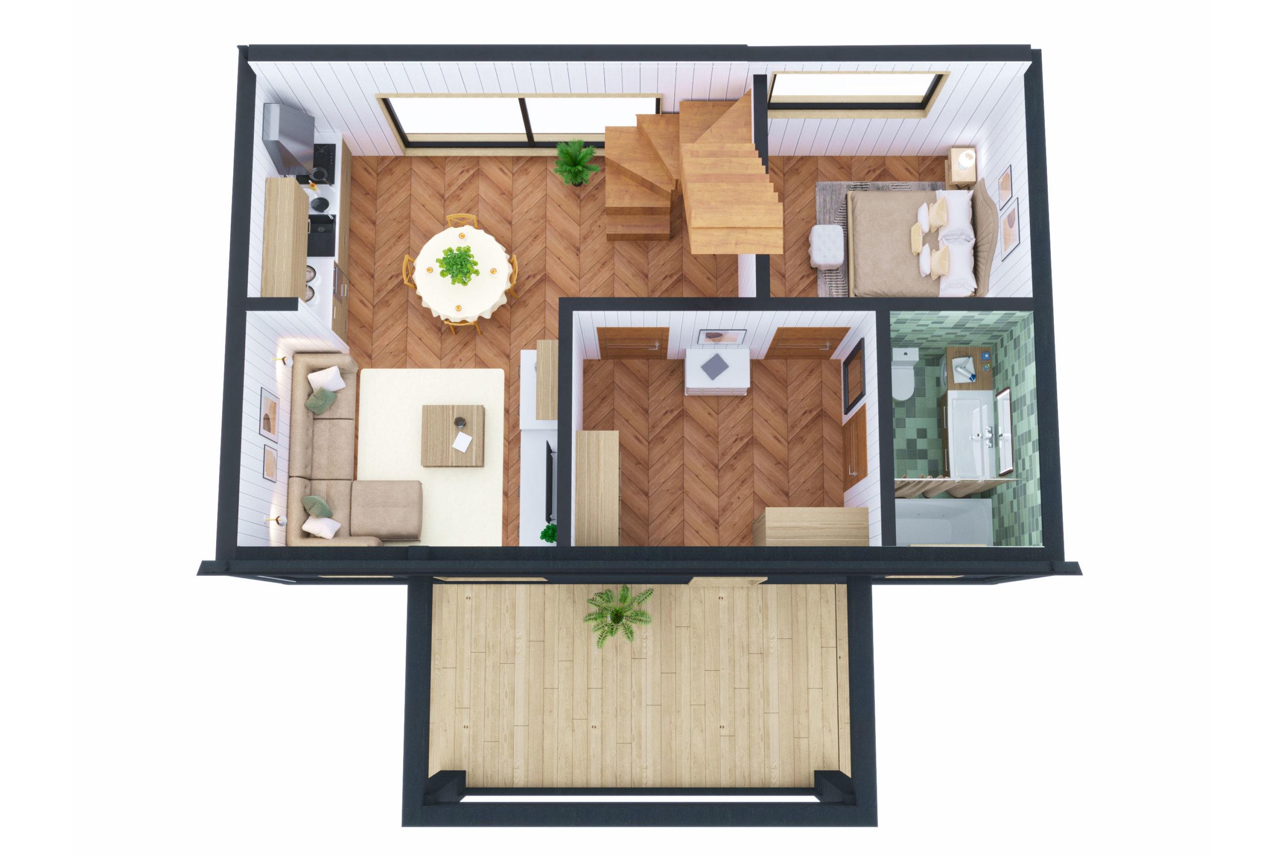 Планировка дома Кемиярви (Kemijarvi) – фото 1