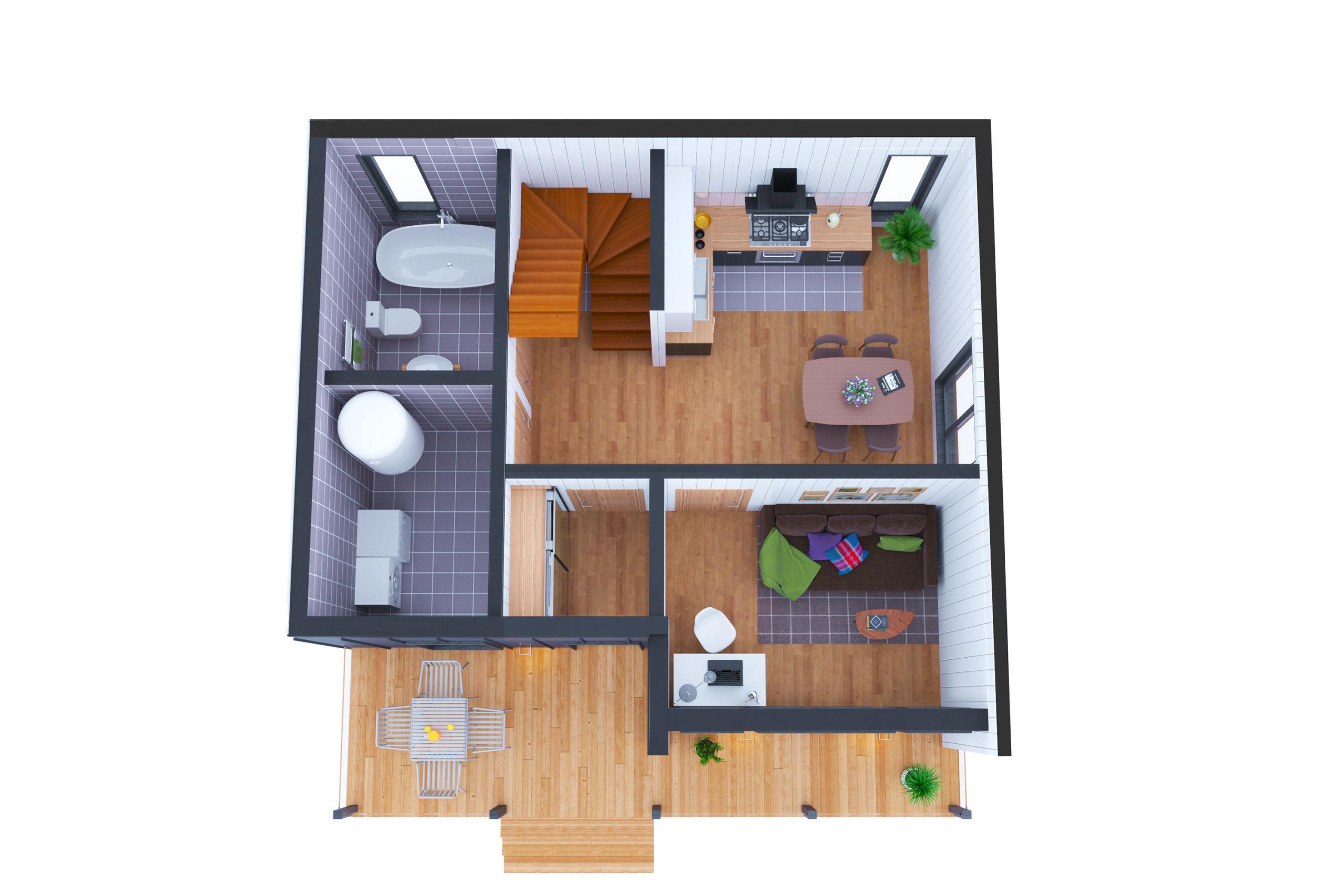 Планировка дома Шамплейн (Shamplain) – фото 1