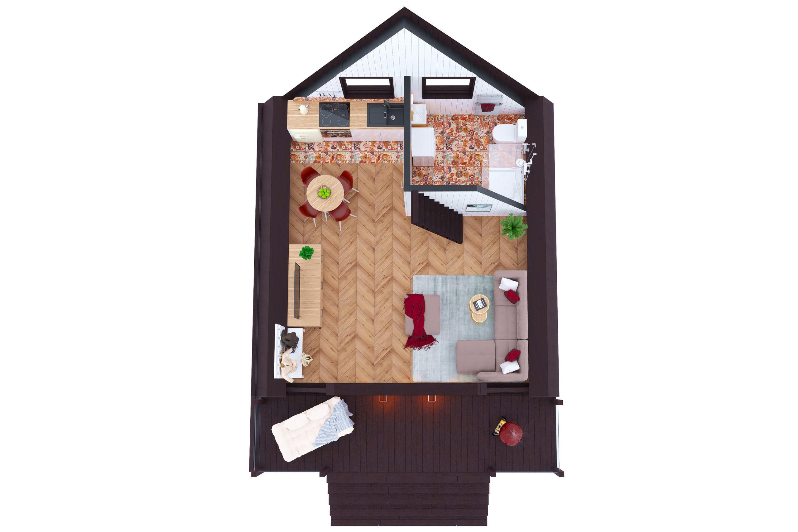 Планировка дома Тахо (Tahoe) – фото 1