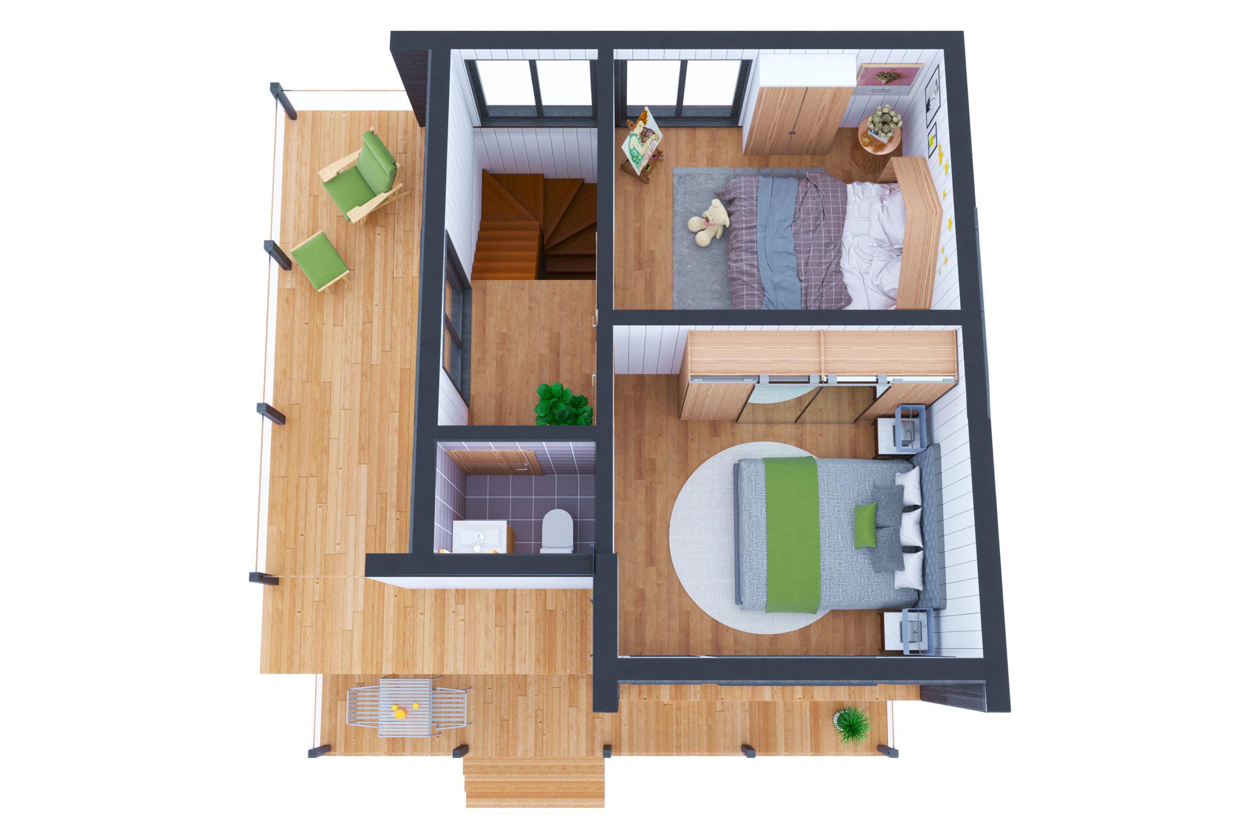 Планировка дома Шамплейн (Shamplain) – фото 2