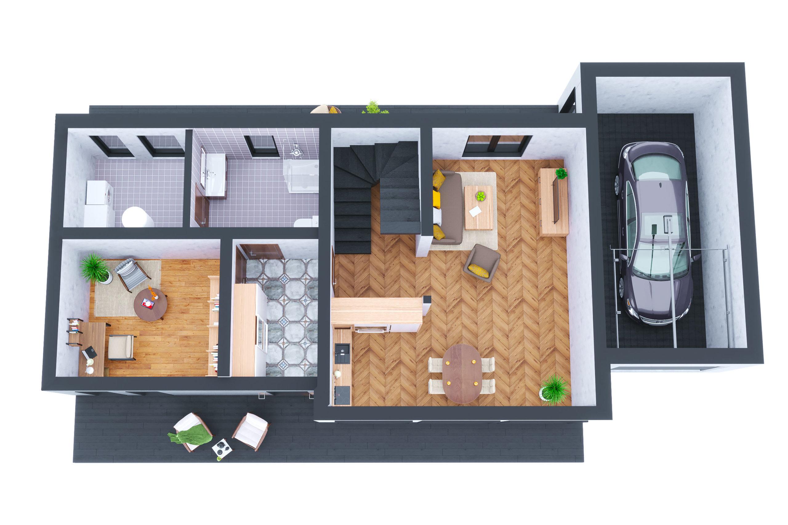 Планировка дома Морейн (Moraine) – фото 1