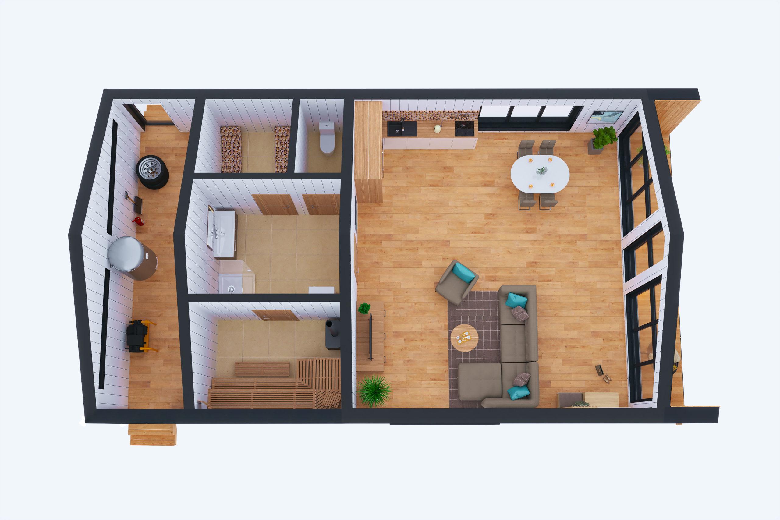 Планировка дома Икша (Iksha) – фото 1
