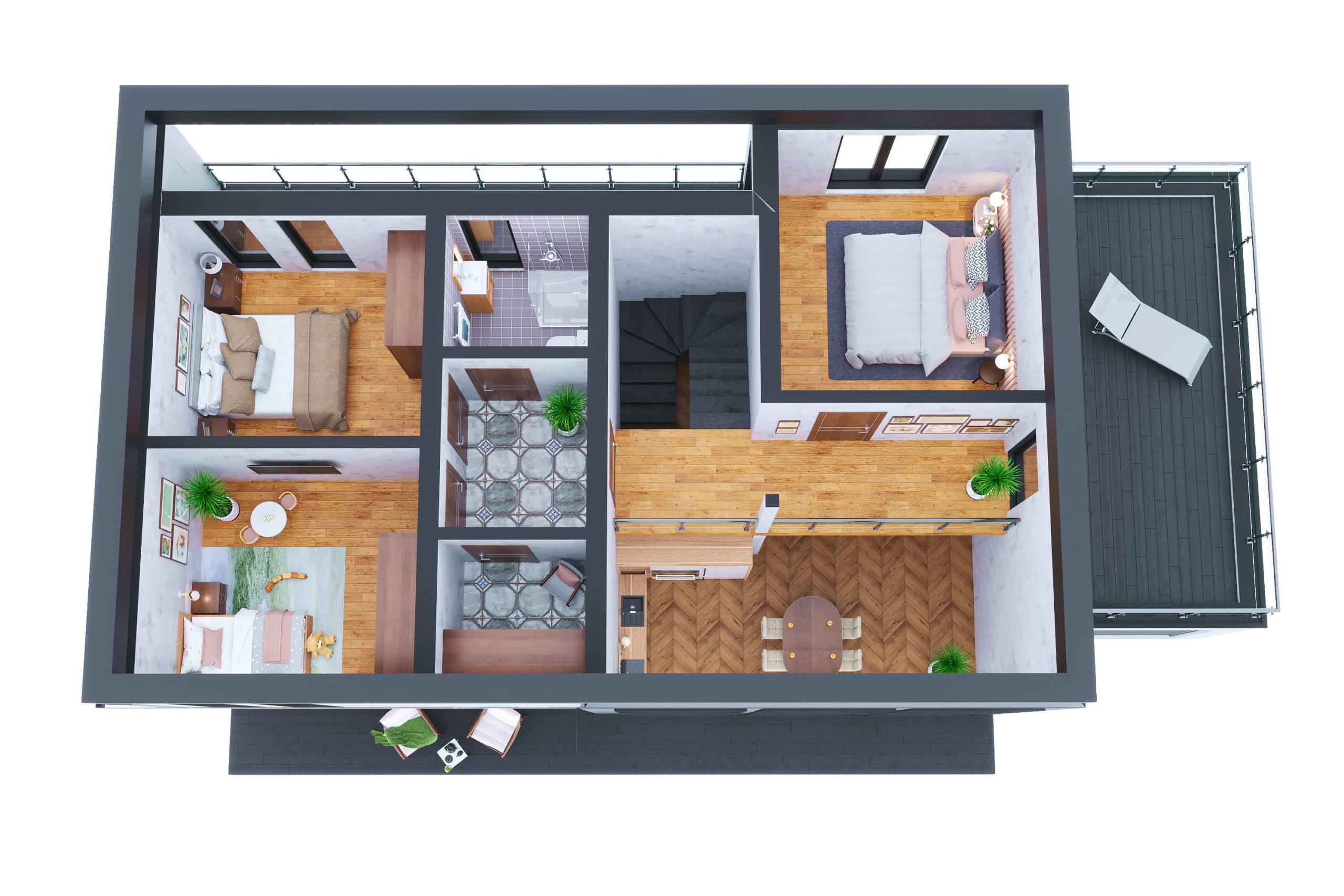 Планировка дома Морейн (Moraine) – фото 2